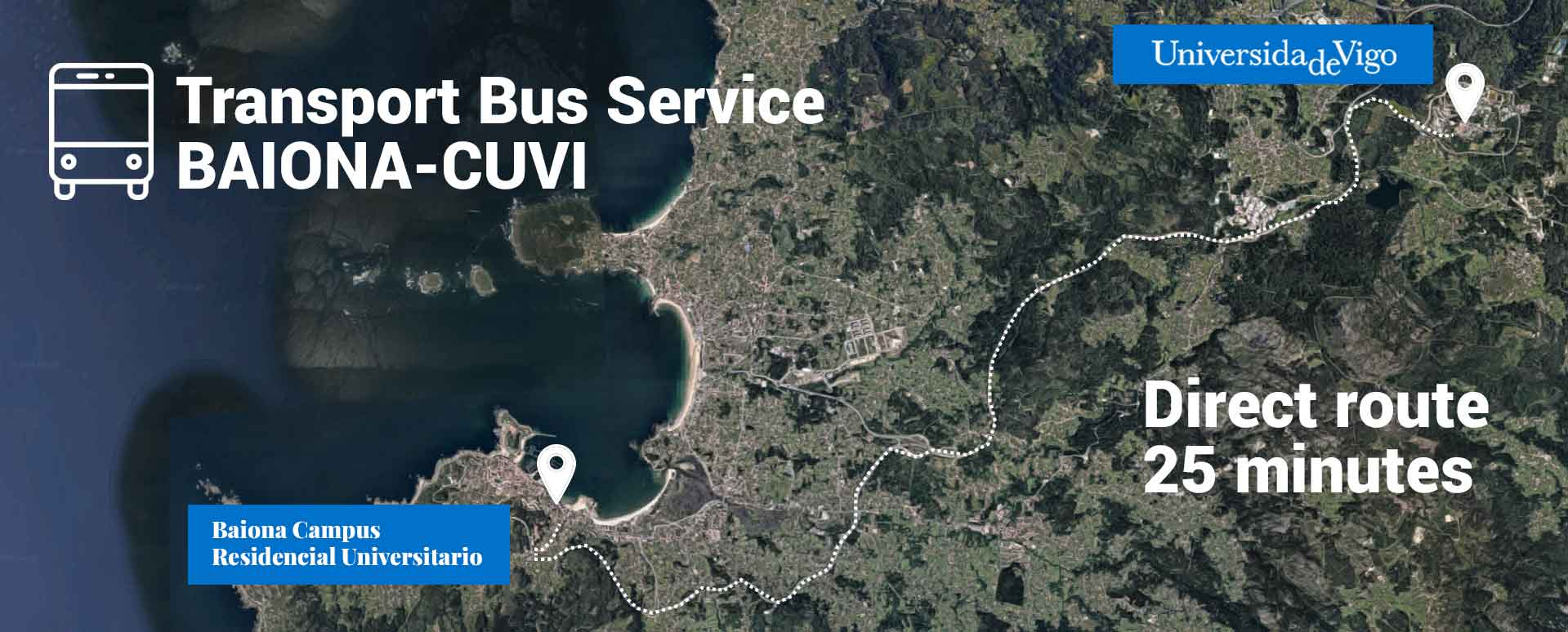 Bus service map